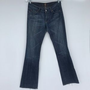 7FAMK Bootcut Studded Distressed Jeans Sz 28
